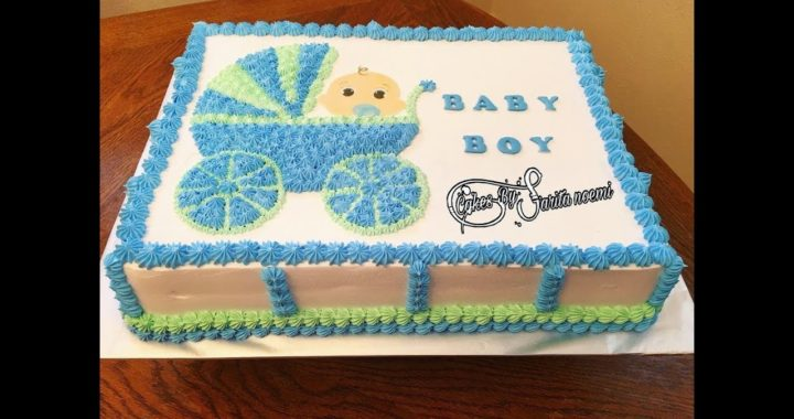 Baby Shower Cake For Boy | Pastel Para Baby Shower De Niño