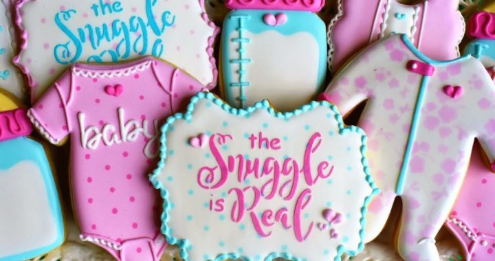 Baby Shower Cookie Tutorial - FIVE Designs!