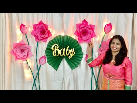 Baby Shower Decoration ideas | Baby Shower Girl | paper flowers decoration