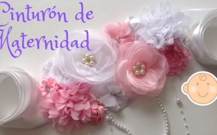 CINTURON DE MATERNIDAD PARA BABY SHOWER / DIY / BABY SHOWER