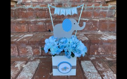 Centro De Mesa De Elefante Para Baby Shower.. Elephant Baby Shower Centerpiece