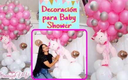 DECORACION CON GLOBOS PARA BABY SHOWER O PRIMER CUMPLEAÑOS/PELUCHE FLOTANTE/Baby Shower Decor Idea