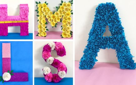 DIY 3D Floral Letters | DIY 3D Letters for Birthday Decoration | Baby shower Decoration ideas