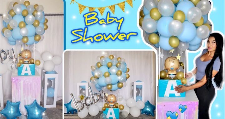 -DIY- Decoracion con Globos para Baby Shower/DIY-Baby Shower Decor Idea/Hot Air Balloon