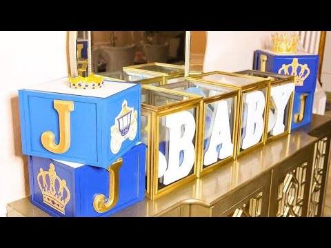 DIY Dollar Tree Baby Shower Decorations For Baby Boy