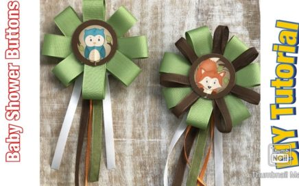 DIY Woodland Baby Shower Pins Tutorial
