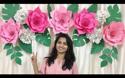 Easy Paper Flowers Backdrop for Birthday, Baby Shower & Wedding | DIY Paper Flowers Decoration ideas