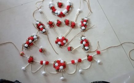 Flower jewellery for baby shower