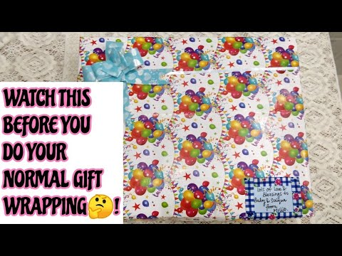 HOW TO GIFT WRAP FOR ANY OCCASSION/BABY SHOWER GIFT WRAPPING IDEA/MISS CREATIVE