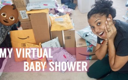 MY VIRTUAL BABY SHOWER | my subscribers sent me gifts ! 💕😭