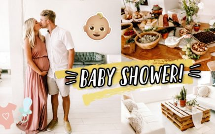 OUR BABY SHOWER + OPENING OUR GIFTS!!