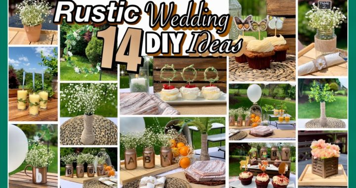 Outdoor RUSTIC Wedding Baby Shower DIY DECOR Ideas
