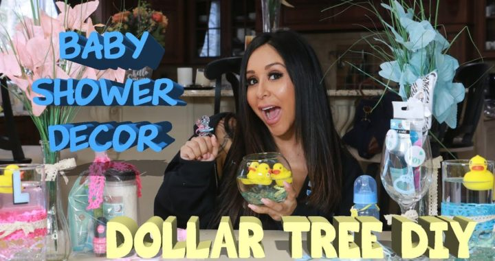 SNOOKI'S DOLLAR TREE DIY BABY SHOWER DECOR