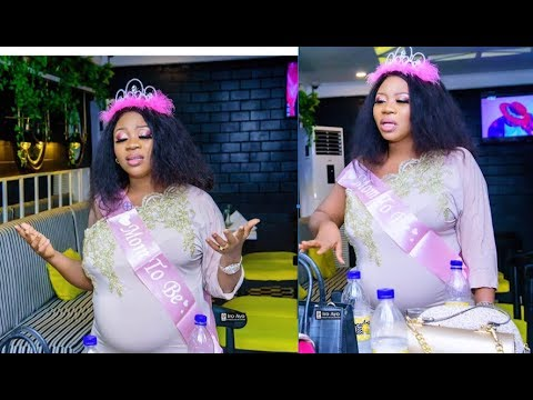 See Yoruba Actress Wunmi Toriola Unseen Baby Shower, As She Dance With Her Big baby bump In US