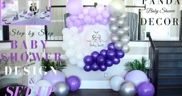 Step by Step Baby Shower Design & Set-Up | DIY Baby Shower Balloon Garland & Decorations