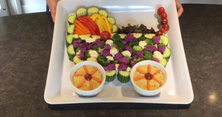 UNIQUE BABY SHOWER IDEAS - A PRAM VEGGIE TRAY